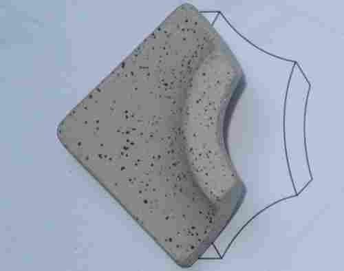 Außenecke Pie'd'oca zu Gewerbefliese Beige Mix 4 x 4 cm