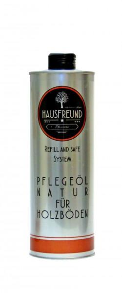 Hausfreund Pflegeöl Natur für Holzböden, 1 Liter