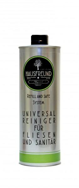 Hausfreund Universalreiniger für Fliesen und Sanitär, 1 Liter