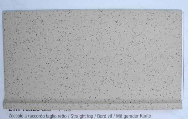 Hohlkehl Sockel mit gerader Kante zu Gewerbefliese Beige Mix 20 x 10 cm