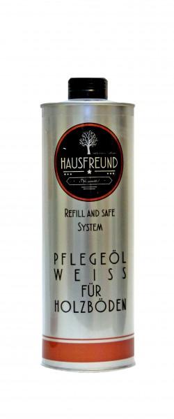 Hausfreund Pflegeöl Weiss für Holzböden, 1 Liter