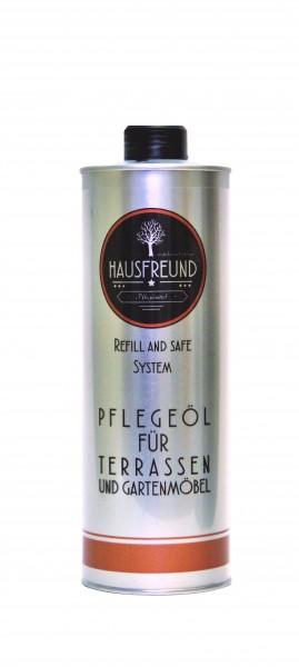Hausfreund Pflegeöl für Terrassen und Gartenmöbel, 1 Liter
