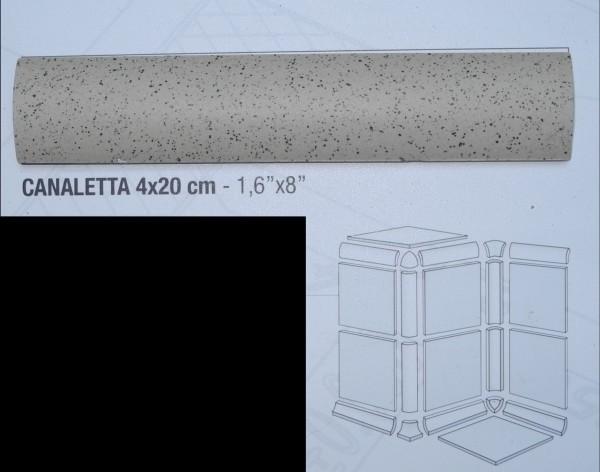 Hohlkehle Canaletta zu Gewerbefliese Beige Mix 20 x 4 cm