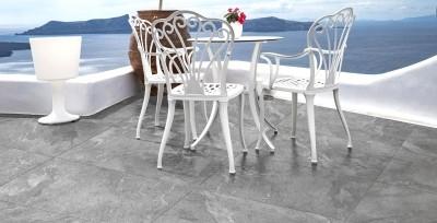Terrassenplatte Feinsteinzeug Pietra di Beola Grigio 45 x 90 cm 2 cm stark