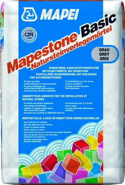 Mapei Mapestone Basic 25kg Mittel- und Dickbettmörtel 5-20mm für den Innen- und Außenbereich